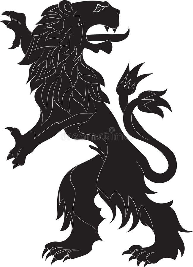 El león de los rebeldes stock de ilustración