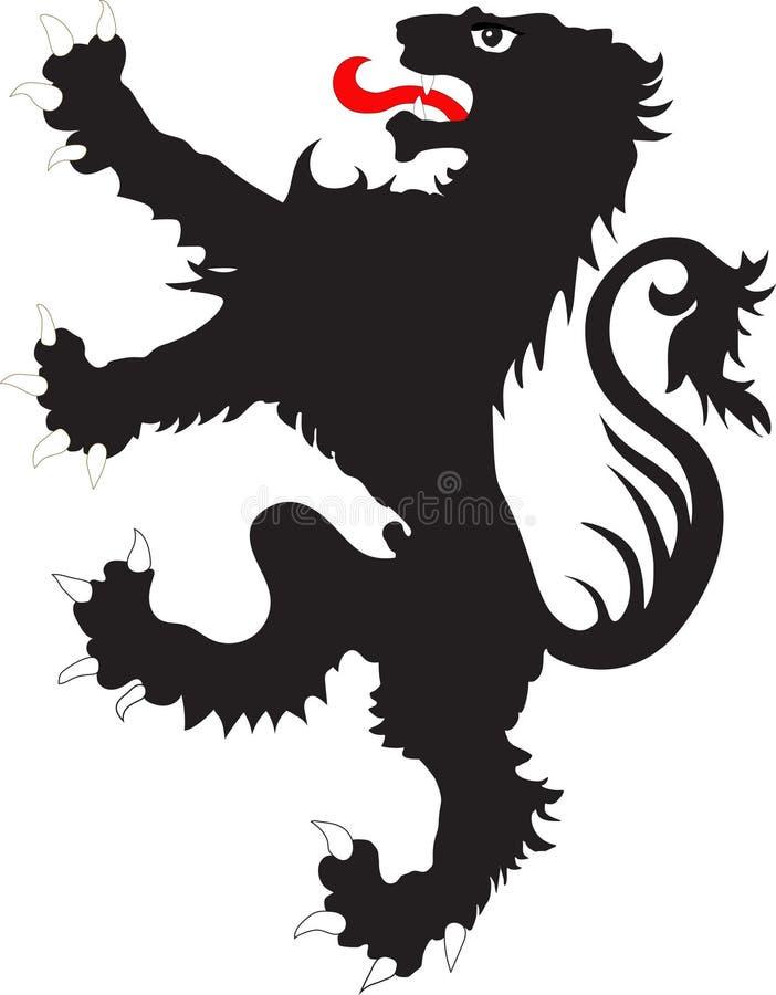 El león de los rebeldes - el símbolo heráldico ilustración del vector