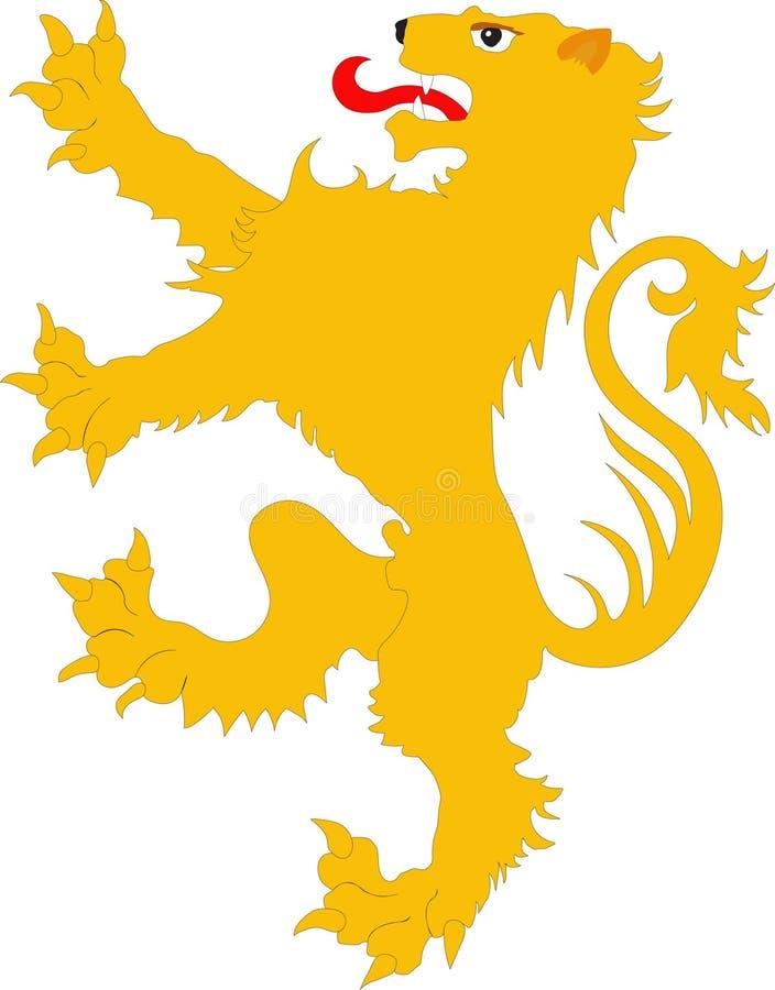 El león de los rebeldes - el símbolo heráldico libre illustration