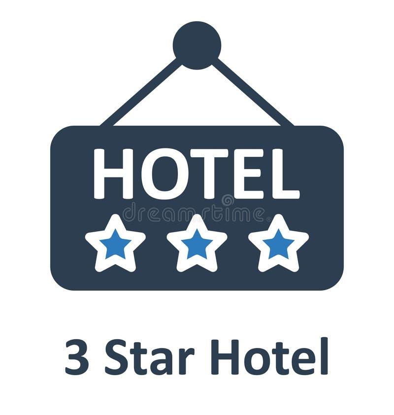 El letrero del hotel aisló el icono del vector que puede modificarse o corregir fácilmente stock de ilustración
