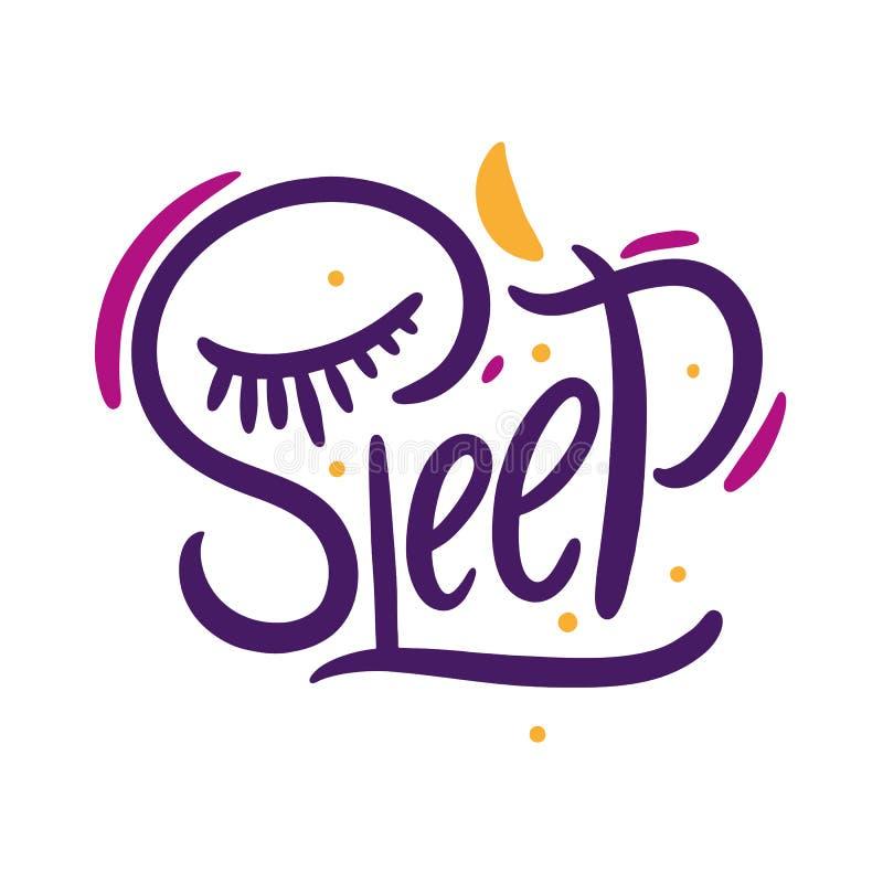 El letterting exhausto del vector de la mano del sueño aislado en el fondo blanco Garabato del diseño para la impresión Ilustraci stock de ilustración