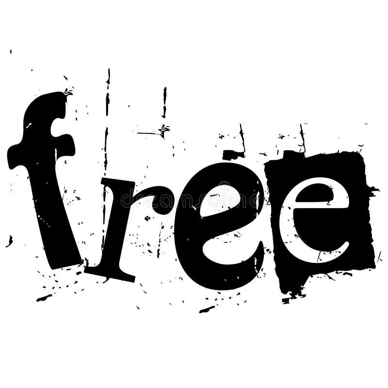 El libre de la palabra escrito en estilo del recorte del grunge libre illustration