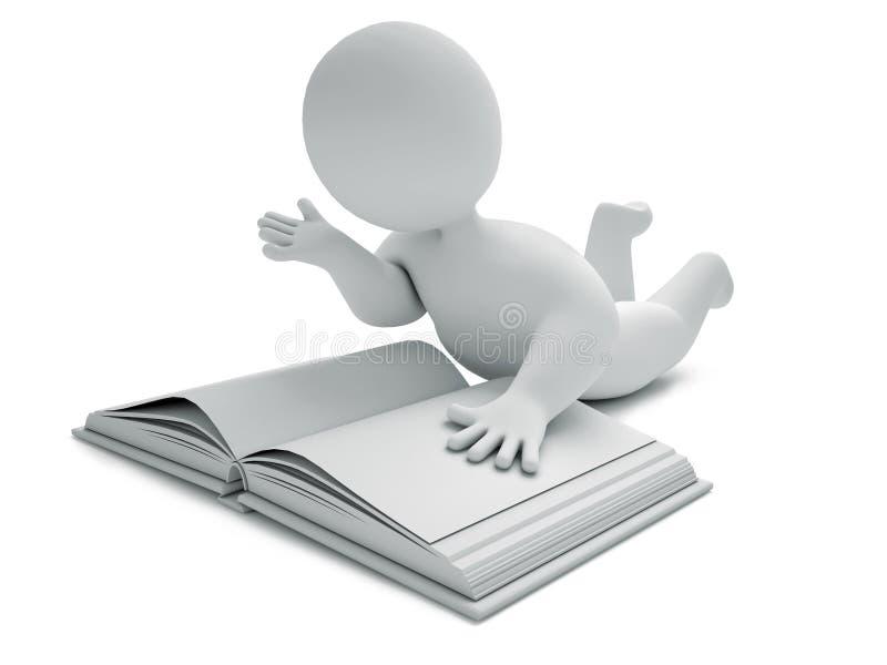 El libro 3d rinde stock de ilustración