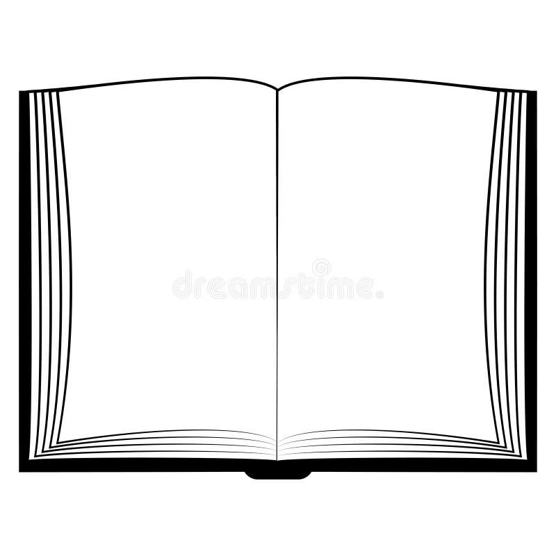El libro abierto del icono, imita encima de los white pages del libro, biblia de la imagen del concepto del vector, Quran stock de ilustración