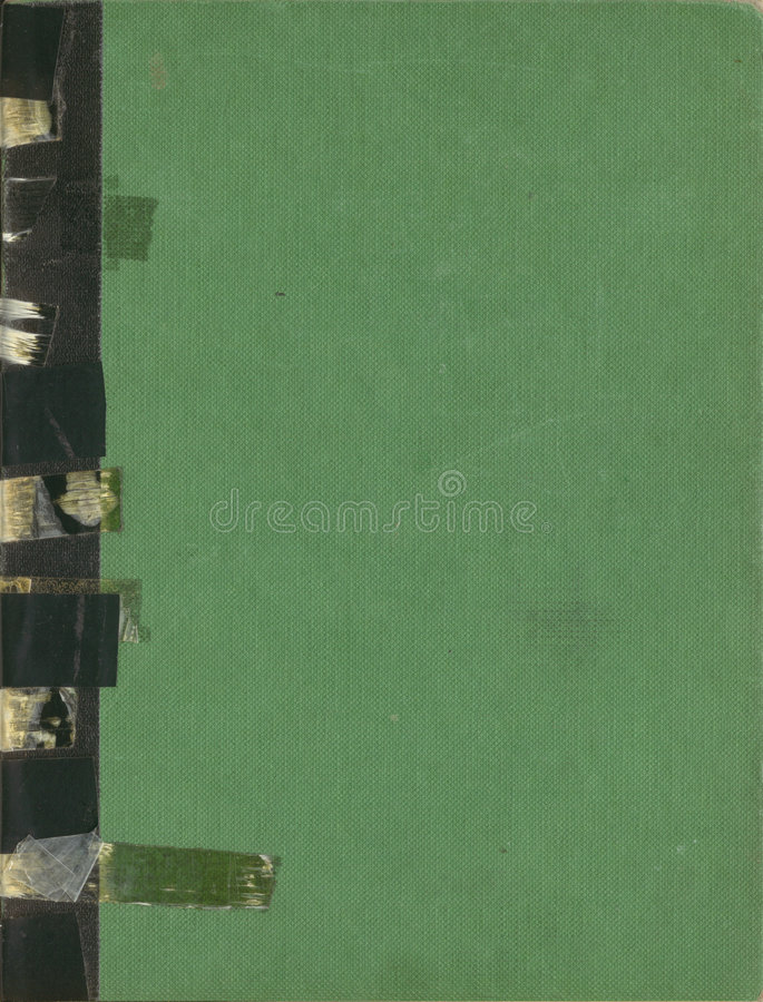 El libro antiguo sujetó con cinta adhesiva el atascamiento fotografía de archivo