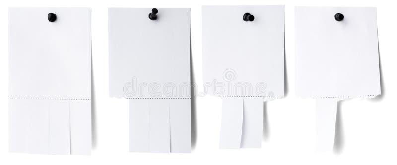 El Libro Blanco en blanco con rasga apagado etiquetas fotografía de archivo libre de regalías