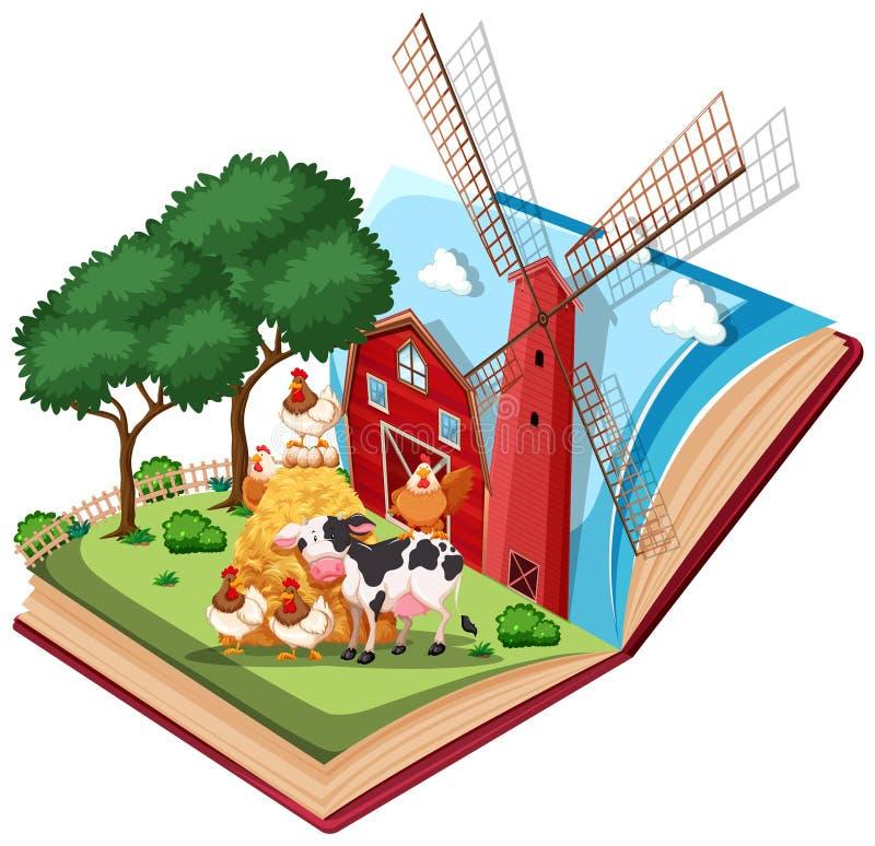 El libro de la granja surge ilustración del vector