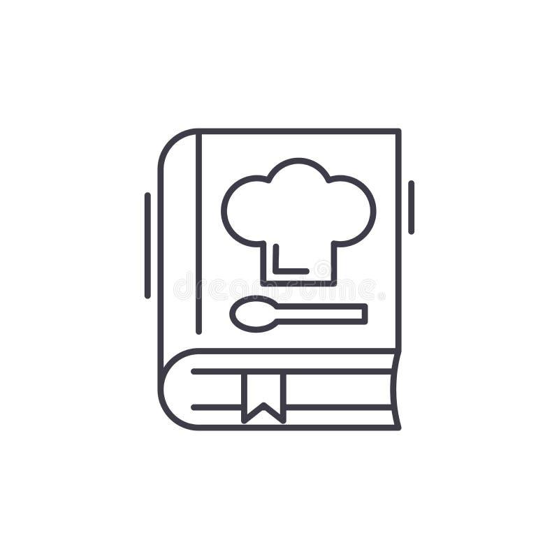 El libro de recetas alinea concepto del icono Libro del ejemplo linear del vector de las recetas, símbolo, muestra libre illustration