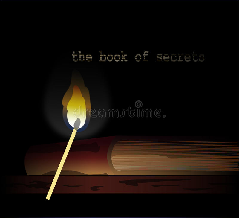 El libro de secretos stock de ilustración