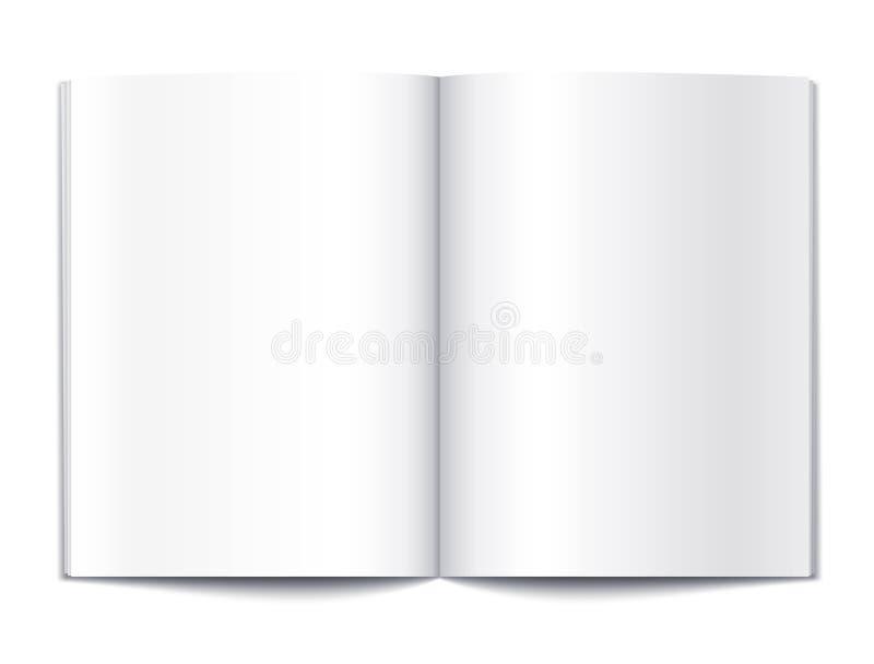 El libro en blanco pagina el modelo ilustración del vector