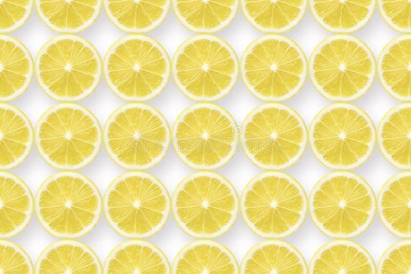 El limón corta el modelo en blanco stock de ilustración