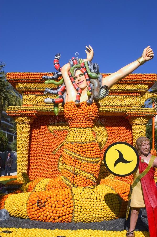 El limón Menton 2011 celebra imagen de archivo libre de regalías