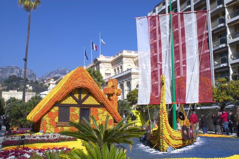 El limón Menton 2011 celebra fotos de archivo libres de regalías
