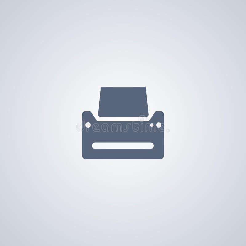 El listado, impresora, vector el mejor icono plano stock de ilustración
