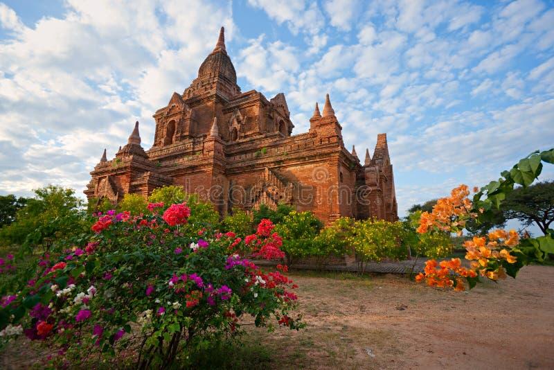 Bagan en la puesta del sol, Myanmar. foto de archivo libre de regalías