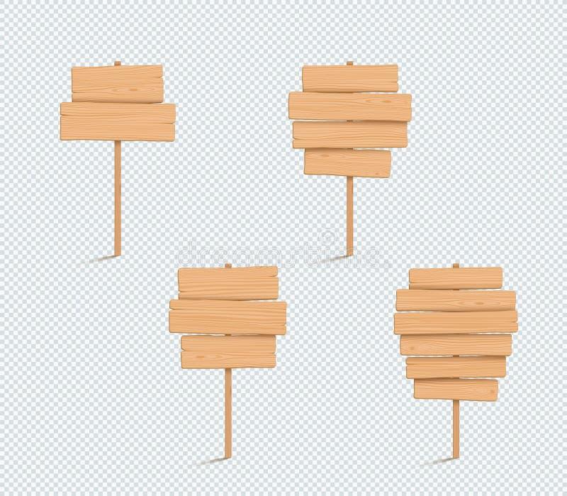 El llano de madera 3d vacío de la muestra apiló el sistema de la lista de los tablones ilustración del vector