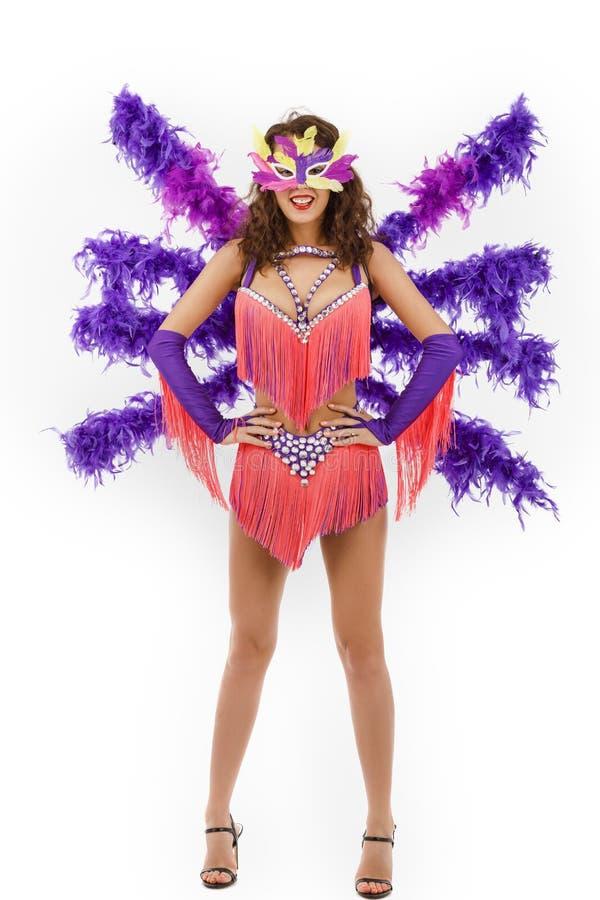 El llevar brasileño de Samba del bailarín imagen de archivo