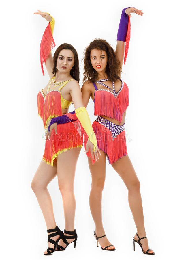 El llevar brasileño del bailarín de la samba imagen de archivo libre de regalías