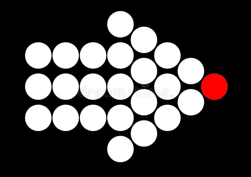 El llevar del frente ilustración del vector