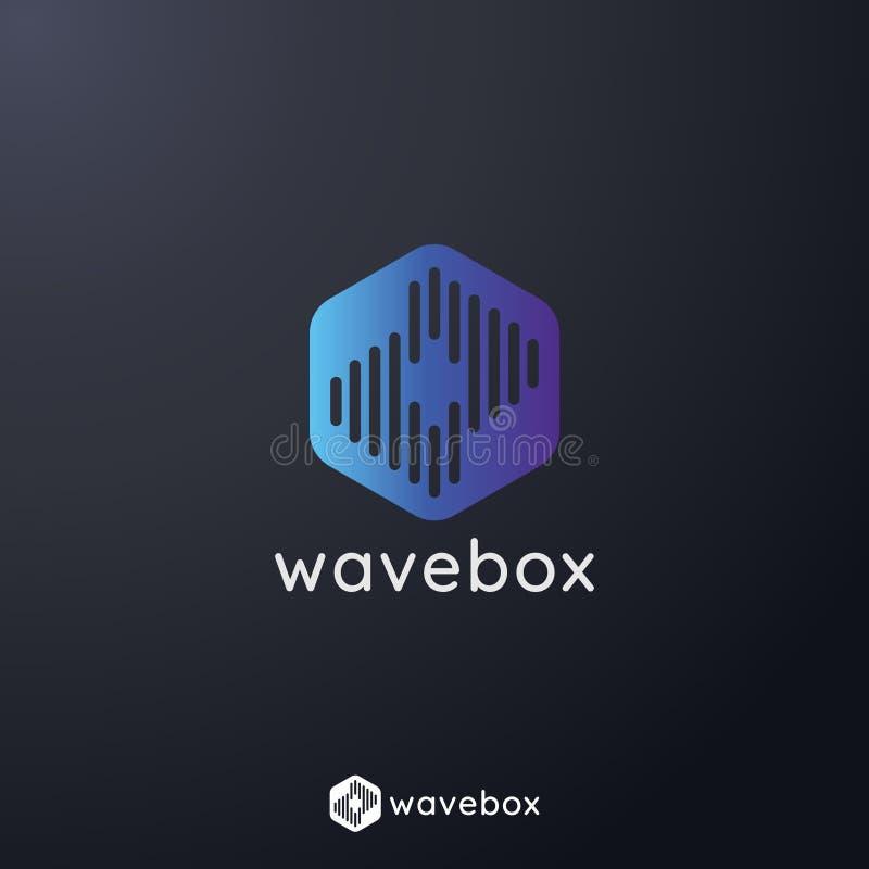 el logotipo abstracto del pulso de la onda de la señal audio para el negocio, apps radia, tecnología, o los datos ejemplo del vec libre illustration