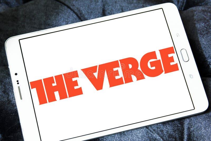 El logotipo de la red de las noticias y de los medios de la tecnología del borde imagen de archivo libre de regalías