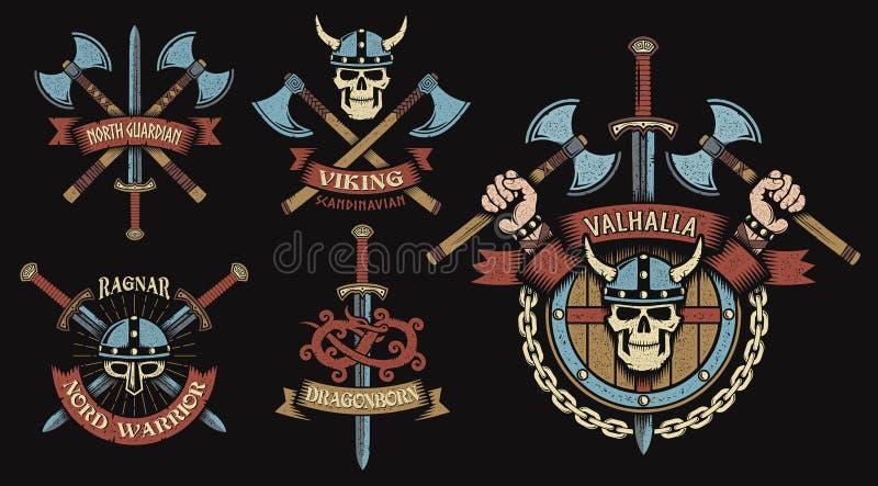 El logotipo de Viking, simboliza ilustración del vector
