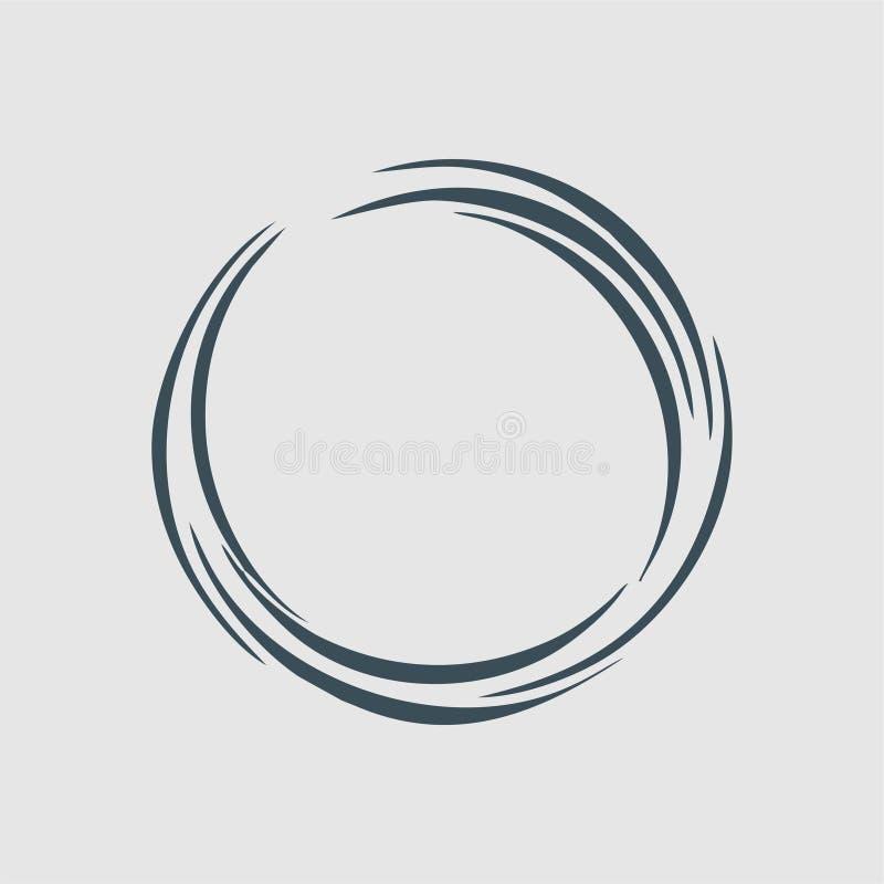 El logotipo del monograma del círculo libre illustration