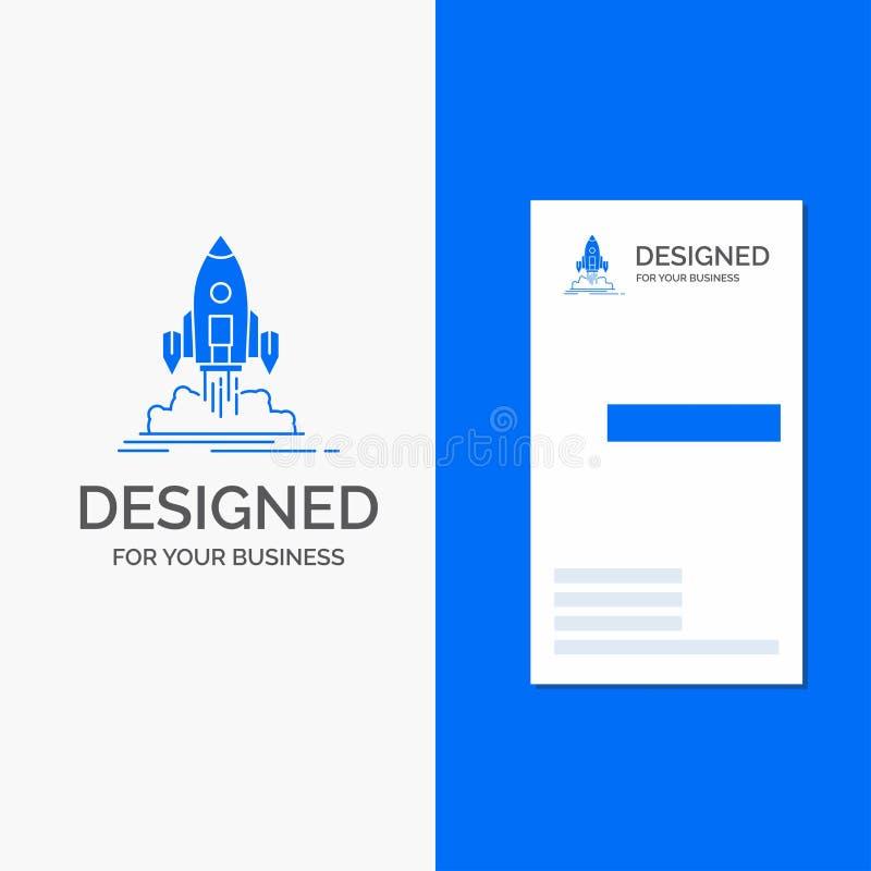 El logotipo del negocio para el lanzamiento, misi?n, lanzadera, inicio, publica r libre illustration