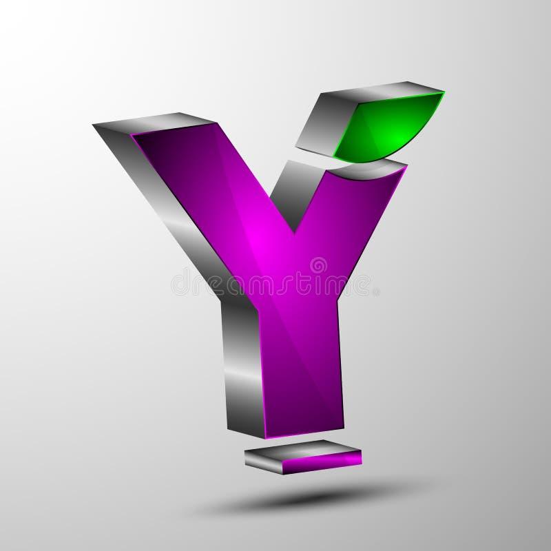 El logotipo del vector 3d stock de ilustración
