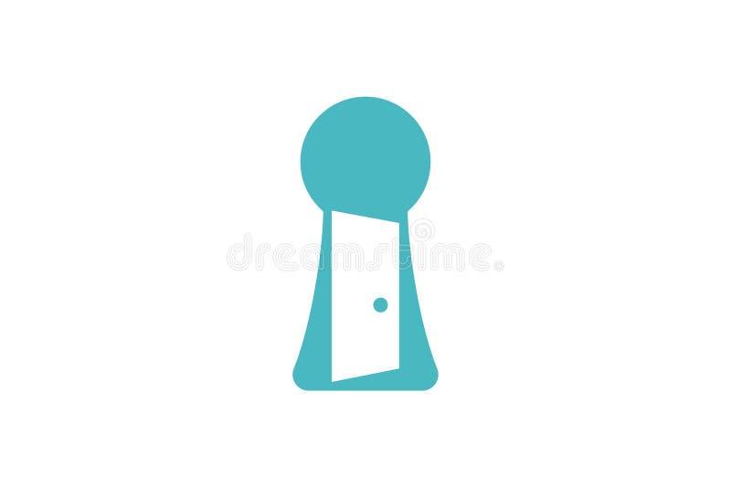 el logotipo entero de la puerta dominante y abierta diseña la inspiración aislado en el fondo blanco ilustración del vector