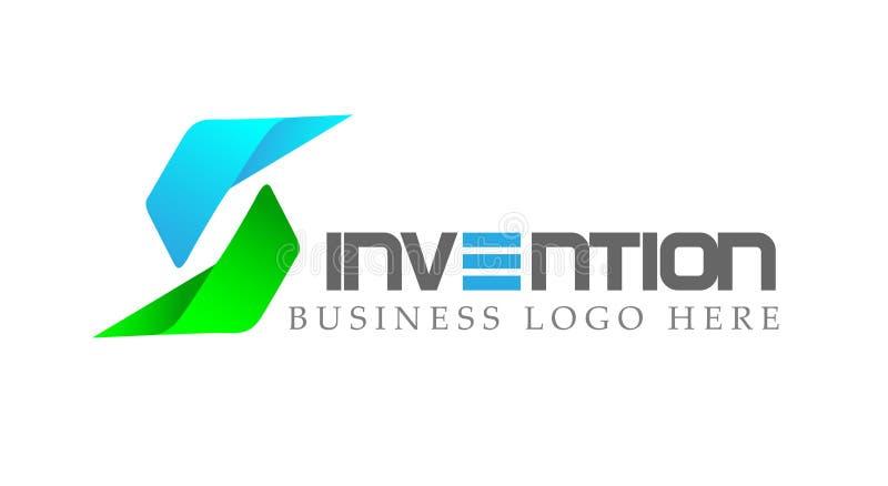 El logotipo, flechas formó dos que la dirección centrada en corporativo invierte diseño del logotipo del negocio Icono del concep stock de ilustración