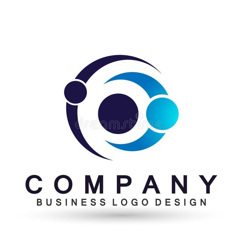 El logotipo formado c?rculo abstracto del negocio, uni?n en corporativo invierte dise?o del logotipo del negocio Inversi?n financ ilustración del vector