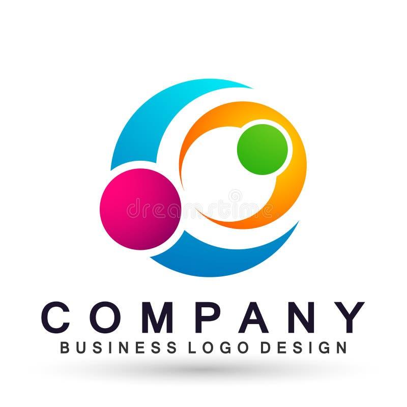El logotipo formado c?rculo abstracto del negocio, uni?n en corporativo invierte dise?o del logotipo del negocio Inversi?n financ stock de ilustración