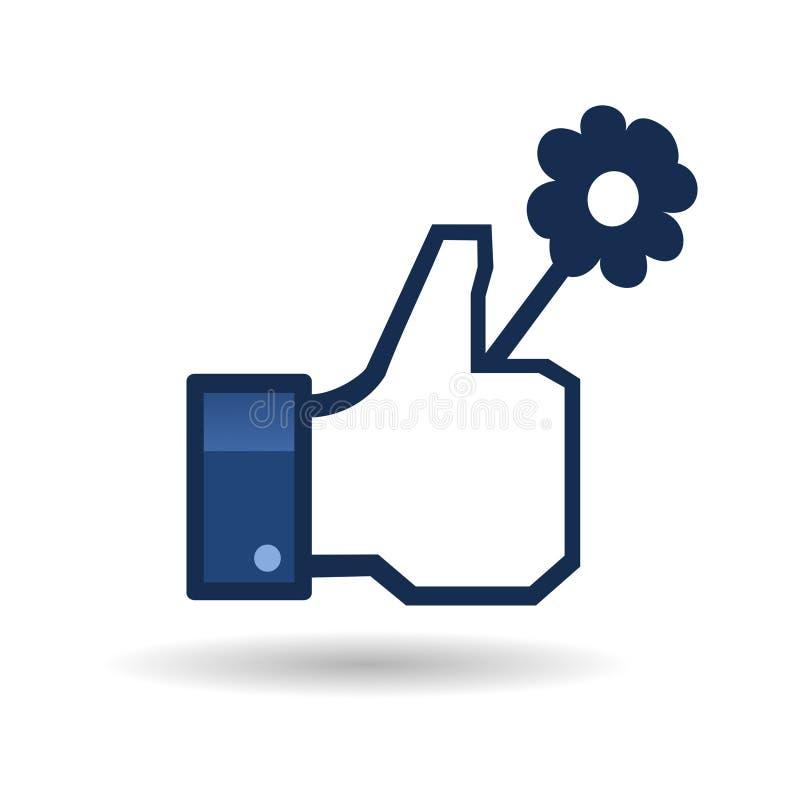 El logotipo le gusta imágenes y de la plantilla del facebook stock de ilustración