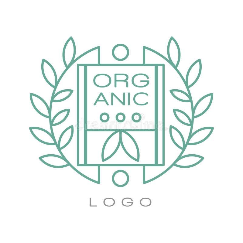 El logotipo orgánico, muestra se puede utilizar para los productos sanos, cosméticos naturales, comida superior de la calidad y b ilustración del vector