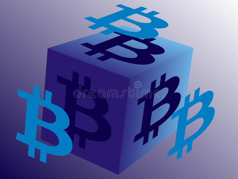 El logotipo para Bitcoin relacionó negocio libre illustration