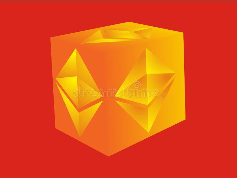 El logotipo para Ethereum relacionó negocio stock de ilustración