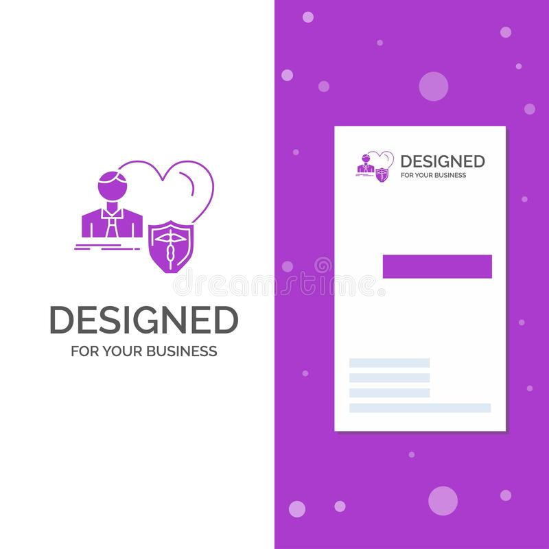 El logotipo para el seguro, familia, hogar del negocio, protege, corazón r Fondo creativo ilustración del vector