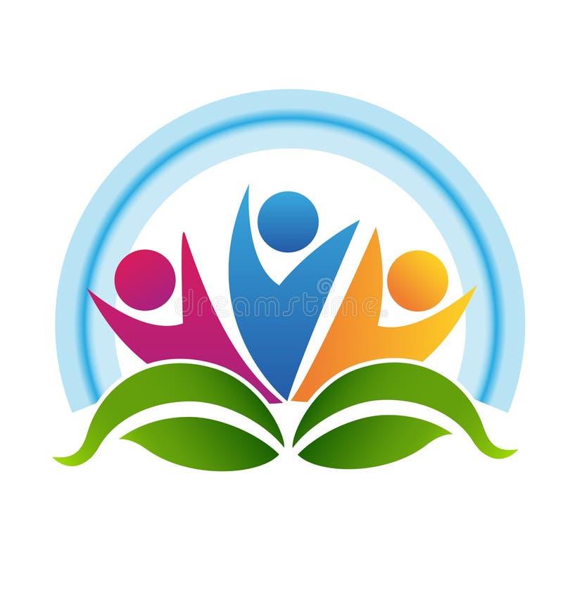 El logotipo partners trabajo en equipo stock de ilustración
