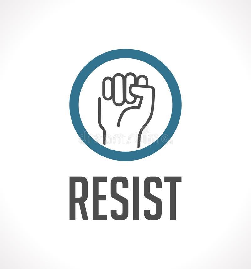 El logotipo resiste - el puño como símbolo de la resistencia libre illustration