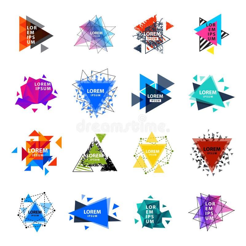 El logotipo sagrado del extracto del triángulo de la geometría figura el ejemplo creativo del vector del triangulum del polígono  libre illustration