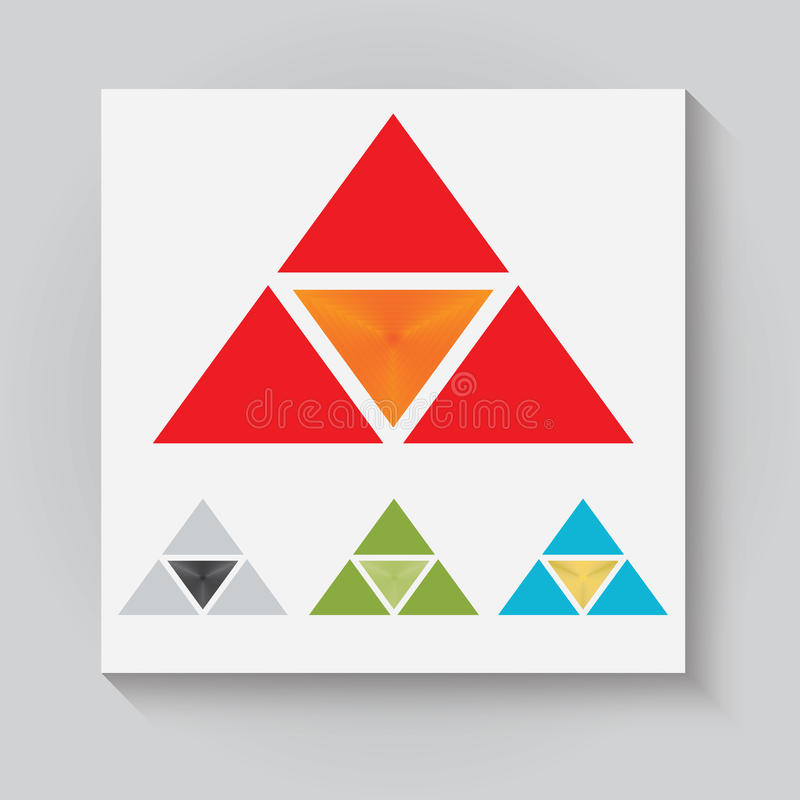 El logotipo triangular ilustración del vector