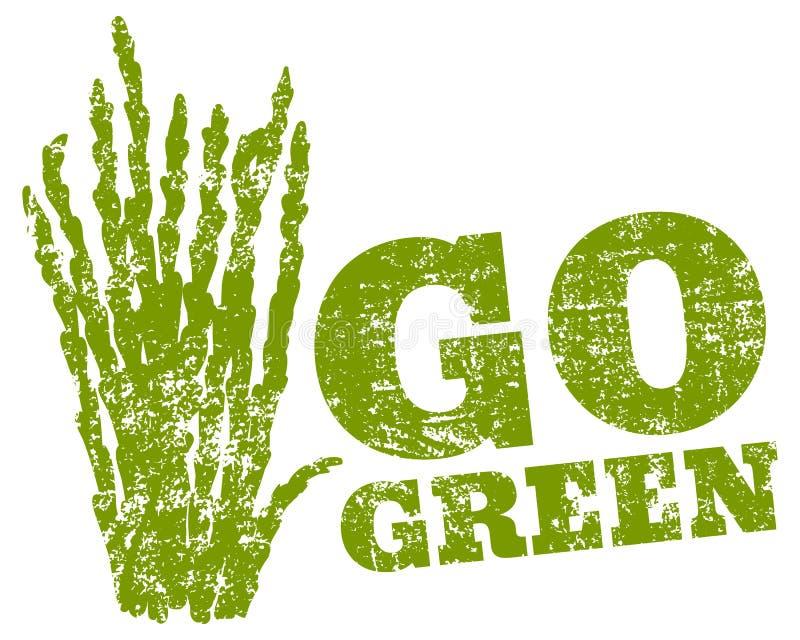 El logotipo va verde ilustración del vector