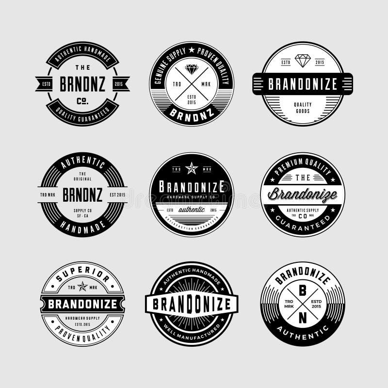 El logotipo y las insignias del vintage lían 1 fotos de archivo