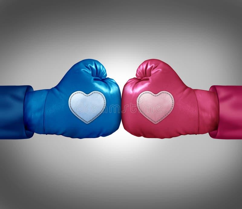El luchar para el amor ilustración del vector