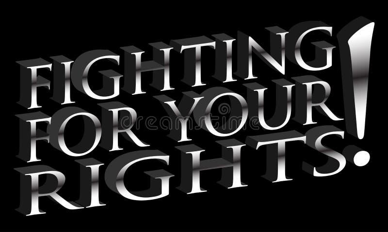 El luchar para las sus derechas libre illustration