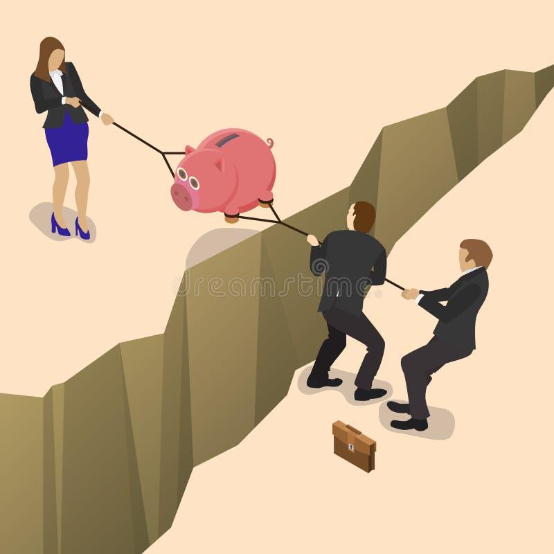 El luchar sobre el dinero libre illustration