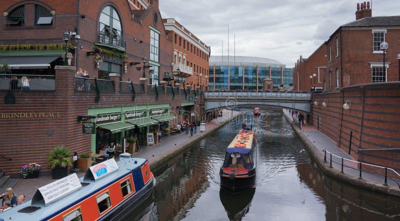 El lugar de Brindley es developmen grandes de un canalside del mezclado-uso foto de archivo libre de regalías