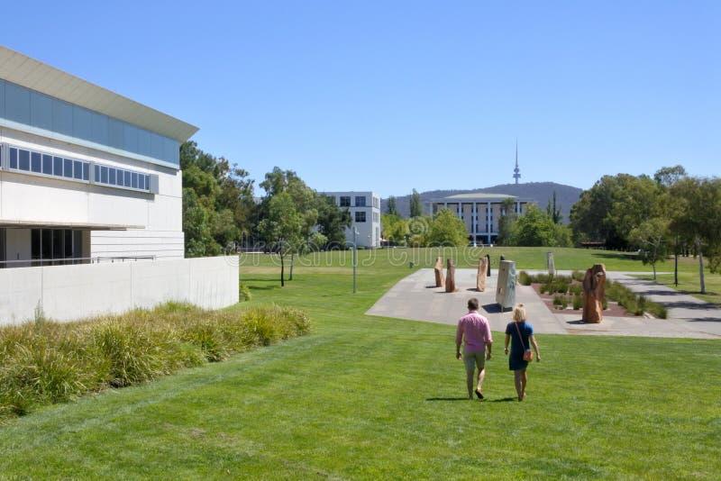 El lugar de la reconciliación en el territorio capital de Australia de la zona parlamentaria de Canberra fotografía de archivo
