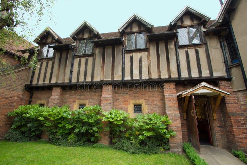 El lugar de nacimiento de Shakespeare en Inglaterra foto de archivo